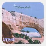 Wilson Arch Vintage Style Square Sticker