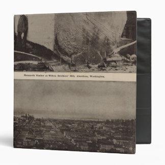 Wilson Bros Mill Bird's eye view of Aberdeen Vinyl Binder