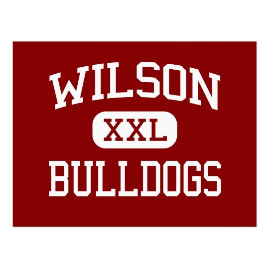 Wilson - Bulldogs - High - Reading Pennsylvania Postcard