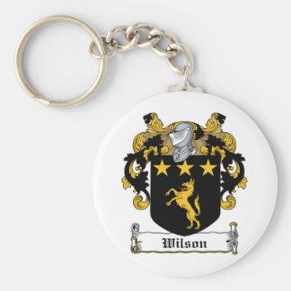 Wilson Family Crest Basic Round Button Keychain