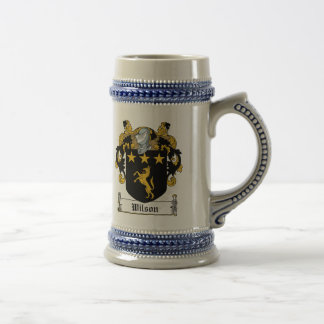 Wilson Family Crest Beer Stein