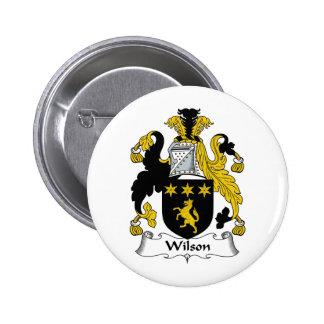 Wilson Family Crest Pinback Button