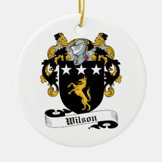 Wilson Family Crest Ceramic Ornament