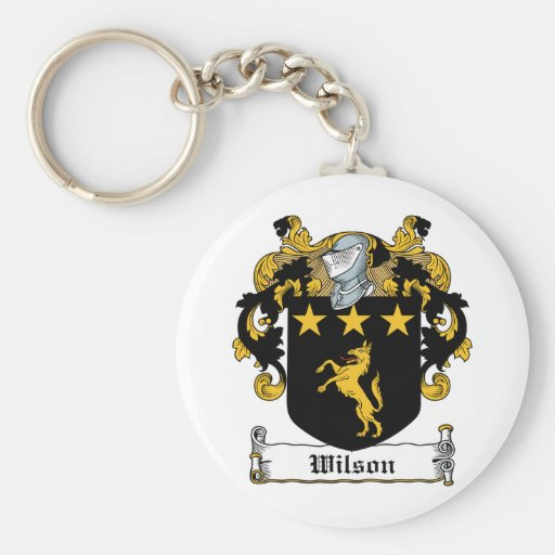 Wilson Family Crest Key Chains