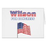 Wilson for Congress Patriotic American Flag Design Greeting Card