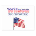 Wilson for Congress Patriotic American Flag Design Postcard