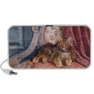 Wilson Hepple: Brown Kitten on an Armchair Mini Speakers