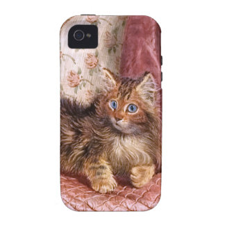 Wilson Hepple: Brown Kitten on an Armchair Vibe iPhone 4 Cover