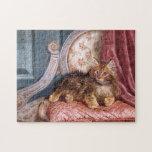 Wilson Hepple: Gatito de Brown en una butaca Puzzle Con Fotos