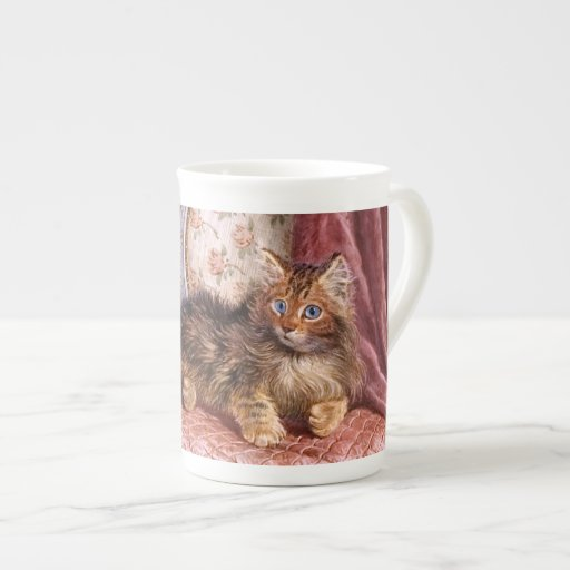 Wilson Hepple: Gatito de Brown en una butaca Taza De Porcelana