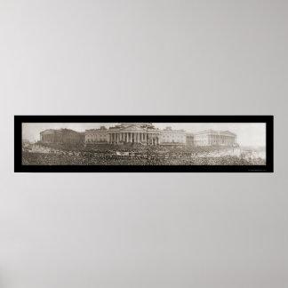 Wilson Inauguration DC Photo 1917 Poster