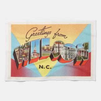 Wilson North Carolina NC Vintage Travel Postcard- Towel