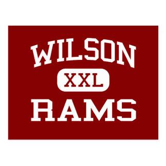 Wilson - Rams - High School - Tacoma Washington Postcard