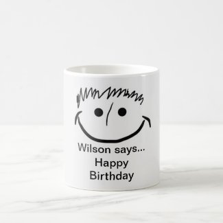 Wilson Says Happy Birthday Coffee Mug