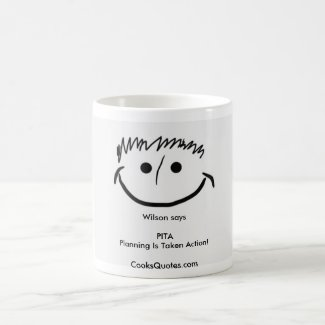 Wilson says Inspirational Mugs PITA