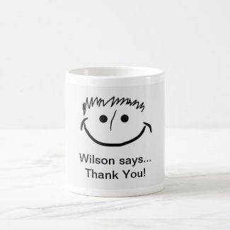 Wilson says Inspirational Thank You!! Coffee Mug