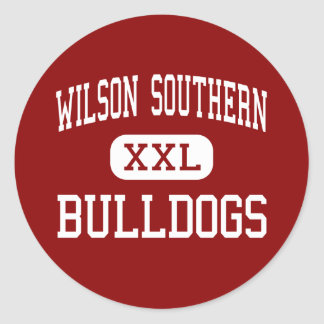 Wilson Southern - Bulldogs - Junior - West Lawn Round Stickers
