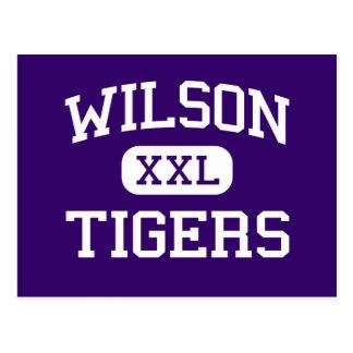 Wilson - Tigers - High - Florence South Carolina Postcard