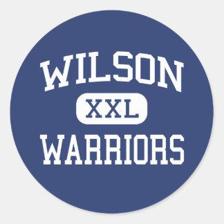 Wilson - Warriors - High School - Florence Alabama Classic Round Sticker