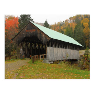 Wilsons Mill Covered Bridge Maine Postcard