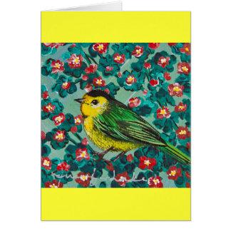 Wilson's Warbler Greeting Cards