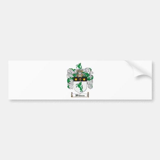 Wilsoun Family Crest - Wilsoun Coat of Arms Bumper Sticker