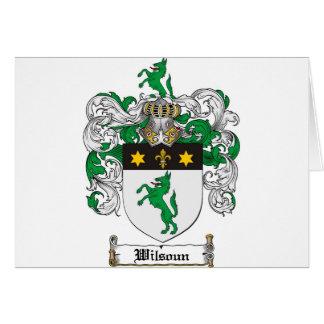 Wilsoun Family Crest - Wilsoun Coat of Arms Card