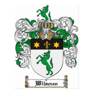 Wilsoun Family Crest - Wilsoun Coat of Arms Postcard