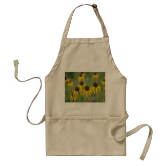 WIlted Yellow Flowers In a Field Adult Apron