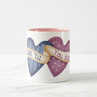 Wilting Quilter Two-Tone Coffee Mug