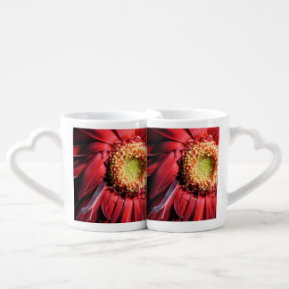Wilting Red Daisy Coffee Mug Set
