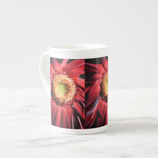 Wilting Red Daisy Tea Cup