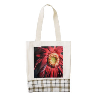 Wilting Red Daisy Zazzle HEART Tote Bag