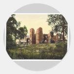 Wilton Castle, Ross-on-Wye, England rare Photochro Round Stickers