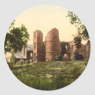 Wilton Castle, Ross-on-Wye, Herefordshire, England Classic Round Sticker