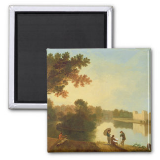 Wilton House from the South-east, c.1758-60 (oil o 2 Inch Square Magnet