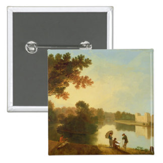 Wilton House from the South-east, c.1758-60 (oil o Pinback Button