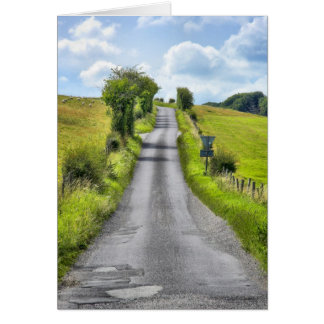 Wiltshire Country Lane blank notelet / card