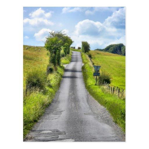 Wiltshire Country Lane postcard