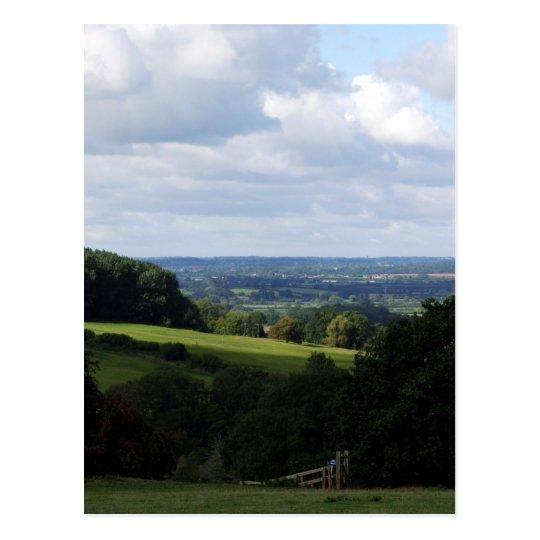 Wiltshire Countryside Postcard