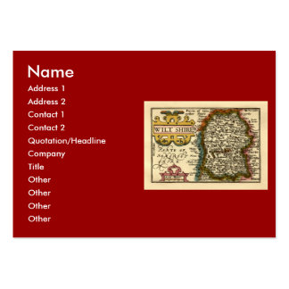 Wiltshire County Map, England Large Business Cards (Pack Of 100)