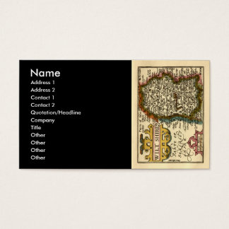 Wiltshire County Map, England Business Card