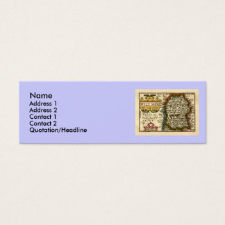 Wiltshire County Map, England Mini Business Card