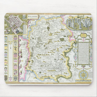 Wiltshire, engraved by Jodocus Hondius Mouse Pad