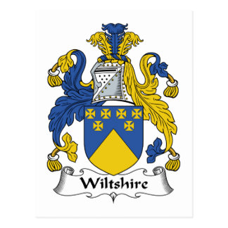 Wiltshire Family Crest Postcard