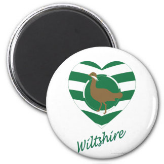 Wiltshire Flag Heart with Name Magnet