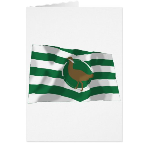 Wiltshire Waving Flag Greeting Card