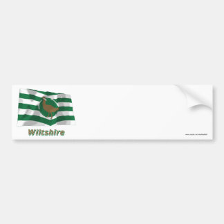 Wiltshire Waving Flag with Name Bumper Sticker