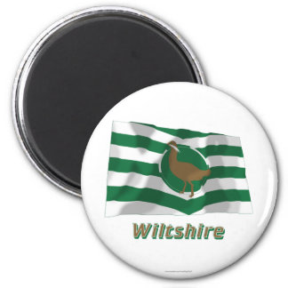Wiltshire Waving Flag with Name Magnet