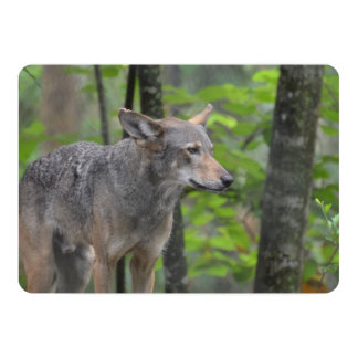 Wily Wolf 5x7 Paper Invitation Card